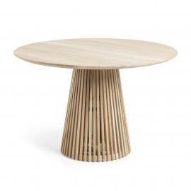 IRUNE Mesa comedor de Ø120 madera teca natural