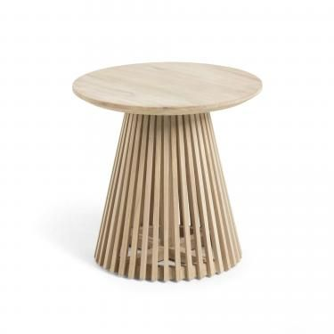 IRUNE Mesa auxiliar madera teca - Imagen 1