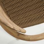 GLYNIS Silla brazos eucalipto natural cuerda bei - Imagen 5