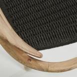 GLYNIS Silla brazos eucalipto natural cuerda gri - Imagen 5