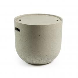 RHETTE Mesa auxiliar cemento gris 49cm diametro.