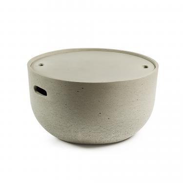 RHETTE Mesa auxiliar cemento gris - Imagen 1