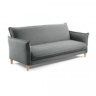 ADALIA Sofá cama 170 tela gris oscuro - Imagen 1