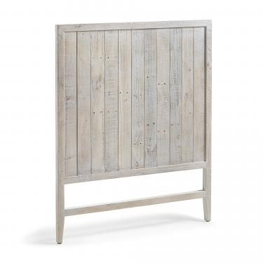 WOODY Cabecero 105x130 madera pino blanco patina - Imagen 1