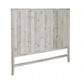 WOODY Cabecero 164x130 madera pino blanco patina