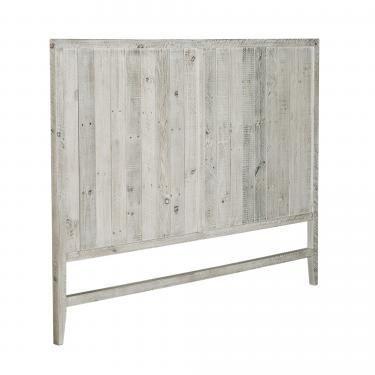 WOODY Cabecero 164x130 madera pino blanco patina - Imagen 1