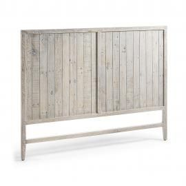WOODY Cabecero 174x130 madera pino blanco patina