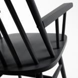 KRISTIE Silla brazos madera negro - Imagen 5