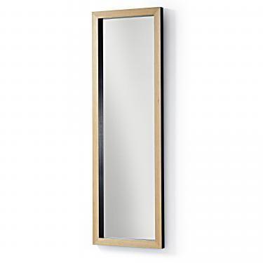 DROP Espejo 48x148 marco madera negro - Imagen 1
