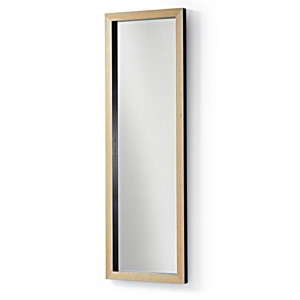 DROP Espejo 48x148 marco madera negro