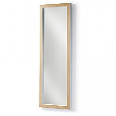 DROP Espejo 48x148 marco madera blanco - Imagen 1