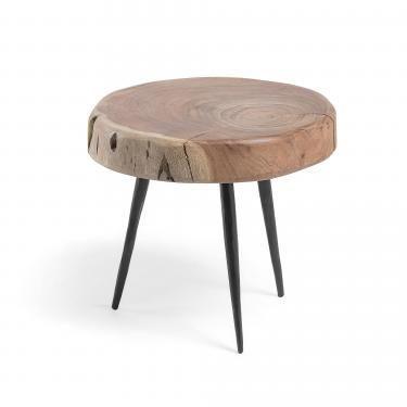 ROUSY Reposapiés metal madera acacia - Imagen 1
