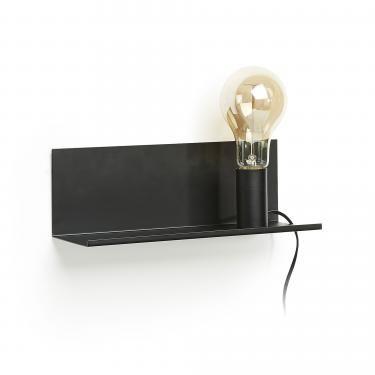 MAEKO Aplique estantería metal negro - Imagen 1