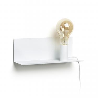 MAEKO Aplique estantería metal blanco - Imagen 1