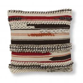 FISURE Funda cojín 45x45 lana algodón multicolor