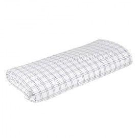 Mantel de cuadros en gris y blanco