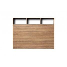Cabecero en acabado madera con almacenamiento.