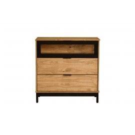 Cómoda de madera 3 cajones. 80x40x80cm.
