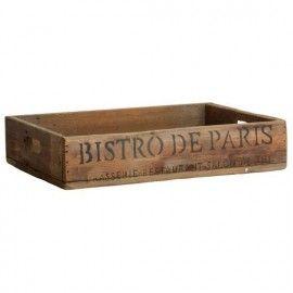 Bandeja de madera con la inscripción Bistro de Paris.