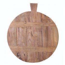 Tabla de madera de teca.