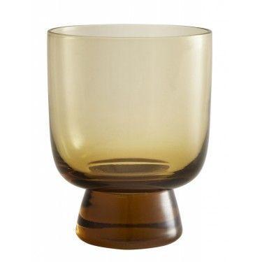Set 2 vasos de cristal ámbar.