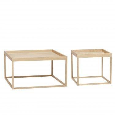 Mesa de centro en madera de roble. Varios acabados.