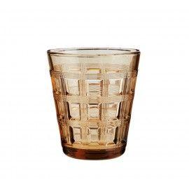 Set 2 vasos de vidrio en tono jengibre.