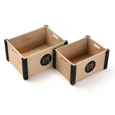 Caja de madera HOME. Varios tamaños.