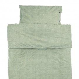 Funda de edredón + almohada verde.