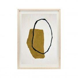 Ilustración abstracta en tono amarillo.