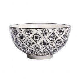 Set Cuenco bowl 15cm colección motivos negros. 2 unid