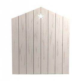 Cabecero casita con estrella. 100x5x120 cm.