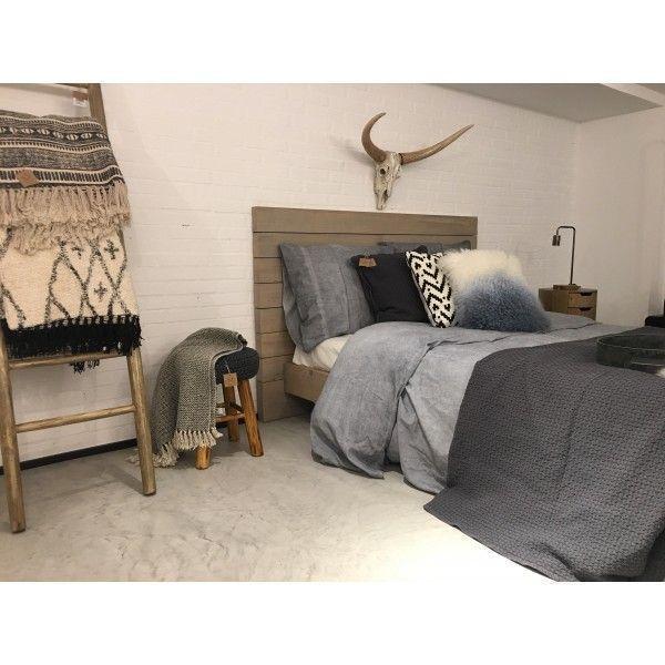 Cabecero tablas de madera natural para cama doble - Cabecero de cama de madera ...