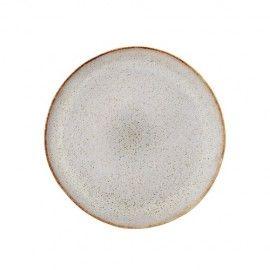 Set de platos rústicos en tonos piedra y marrón 22cm. 2 unidades.