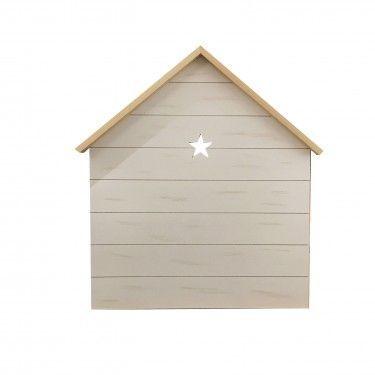 Cabecero casita con tejado y detalle de estrella.