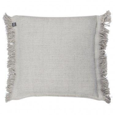 Cojín gris de algodón.