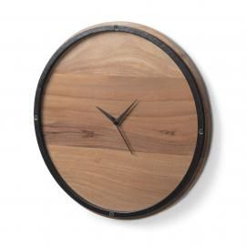 TOGH Reloj pared madera acacia natural
