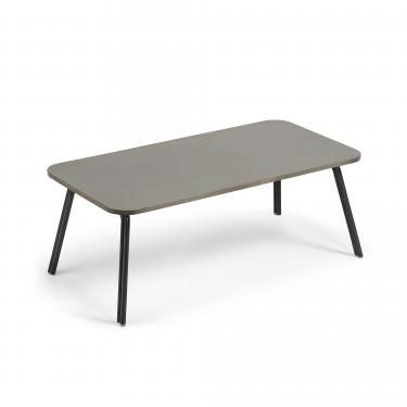 BERNON Mesa centro 110x55 gris, poly-cemento gris - Imagen 1
