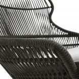 RIZZ Sillón metal gris cuerda gris - Imagen 5