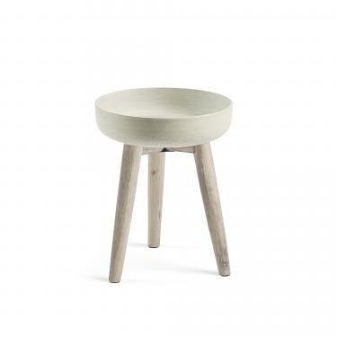 STAHL Macetero 43 acacia blanco cepillado cemento gri - Imagen 1