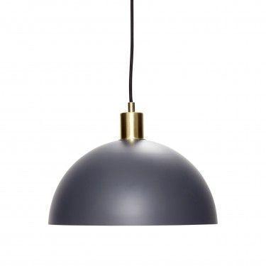 Lámpara de techo en hierro gris y latón