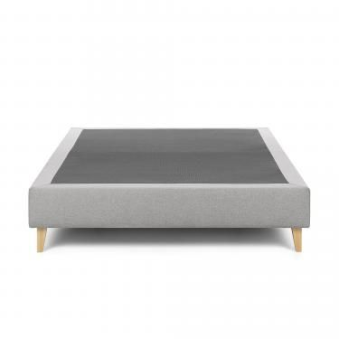 NIKOS Base alta 90x190 tela gris - Imagen 1