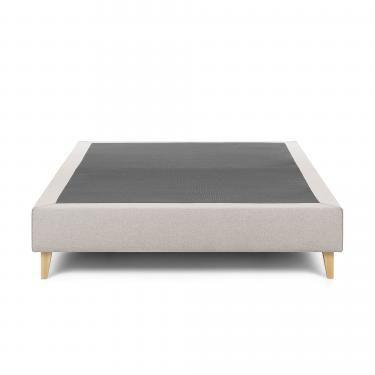 NIKOS Base alta 160x200 tela beige - Imagen 1