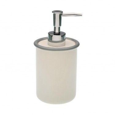 Dispensador de jabón de cerámica.