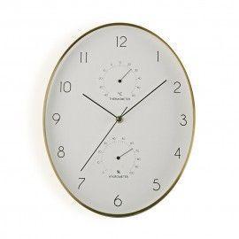 Reloj de pared ovalado.