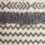 Cojín étnico gris/beige