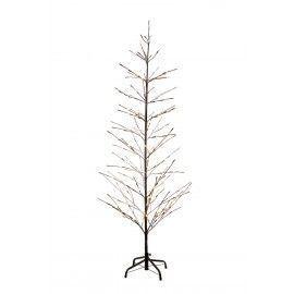 Árbol de Navidad ISAAC nevado con luces LED. 160 cm.