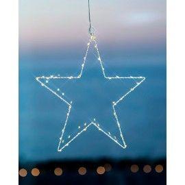 Estrella blanca decorativa con luces LED