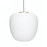 Lámpara de techo cristal blanco.