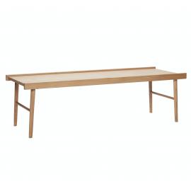 Mesa de centro madera de roble. 137x50x41cm.